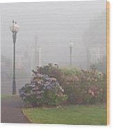 Foggy Morn Wood Print