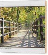 Foggy Morning On Boardwalk Wood Print