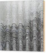 Foggy Silver Mountain Range Wood Print