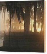 Foggy Sunrise 2 Wood Print