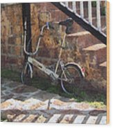 Folding Bicycle Antigua Wood Print