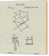 Folding Chair 1862 Patent Art  Wood Print by Prior Art Design