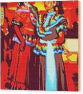 Folklorico Dancers Wood Print by Randall Weidner