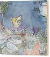 Follow The Firefly Wood Print by Dorothy Herron