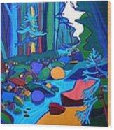 Follow The River Jackson Nh Wood Print