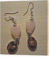 Follow Your Heart Sweet Pink Earrings Wood Print