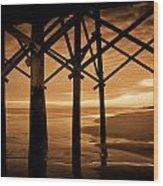 Folly Beach Wood Print