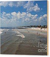 Folly Beach Charleston South Carolina Wood Print