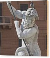 Fontana Del Nettuno. Neptune Fountain. Piazza Navona. Rome Wood Print