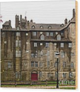 Fonthill Castle In The Rain  Wood Print