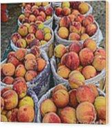 Food - Harvested Peaches Wood Print