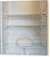 Food Container In A Refrigerator Wood Print by Inti St. Clair
