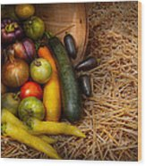 Food - Vegetables - Very Early Harvest Wood Print