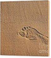 Foot Print Wood Print by Carlos Caetano