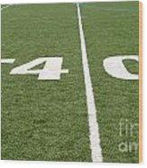 Football Field Forty Wood Print