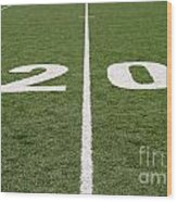 Football Field Twenty Wood Print