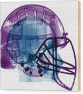 Football Helmet X-ray Wood Print