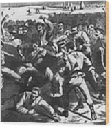 Football: Soldiers, 1865 Wood Print