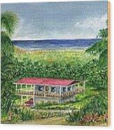 Foothills Of El Yunque Puerto Rico Wood Print