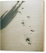 Footsteps Wood Print
