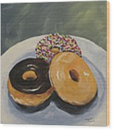 For The Love Of Krispy Kreme Wood Print