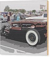 Ford A Sedan Wood Print