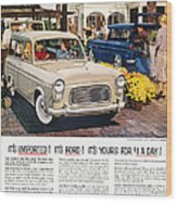 Ford Avertisement, 1959 Wood Print