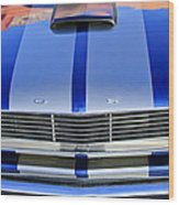Ford Mustang Grille Wood Print