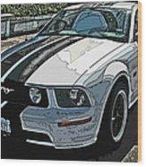 Ford Mustang Gt No. 2 Wood Print by Samuel Sheats