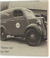 Ford Thames Van Aged Wood Print