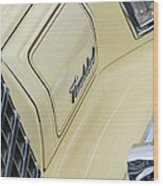 Ford Thunderbird Head Light Wood Print