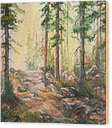 Forest Light Triptych Wood Print