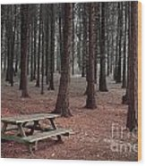 Forest Table Wood Print