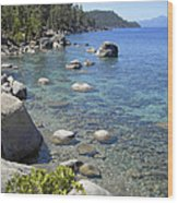 Forested Shores Of Lake Tahoe Wood Print