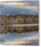 Forge River In Fall Wood Print