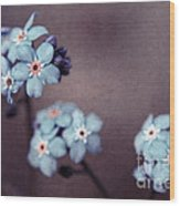 Forget Me Not 01 - S05dt01 Wood Print