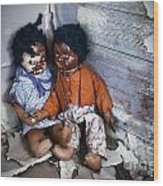 Forgotten Dolls Study IIi Wood Print by Norma Warden