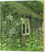 The Forgotten English Cottage Wood Print
