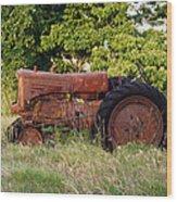 Forgotten Tractor 23 Wood Print
