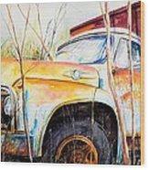 Forgotten Truck Wood Print by Scott Nelson