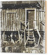 Forgotten Wooden House Wood Print