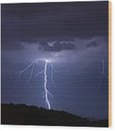 Forked Lightning Wood Print