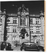Former Kilmarnock Technical School And Academy Building Now Academy Apartments Scotland Uk Wood Print