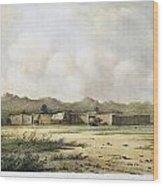 Fort Bridger, Wyoming, 1852 Wood Print