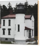 Fort Casey Lighthouse Wood Print