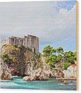 Fort Lovrijenac In Dubrovnik Wood Print
