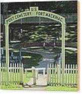 Fort Mackinac Post Cemetery Wood Print
