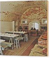Fort Macon Mess Hall_9078_3765 Wood Print