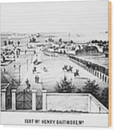 Fort Mchenry, 1862 Wood Print