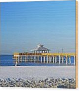 Fort Myers Beach Pier Wood Print